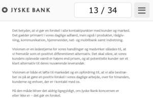 13. banken gør en forskel i adfærd og rådgivning