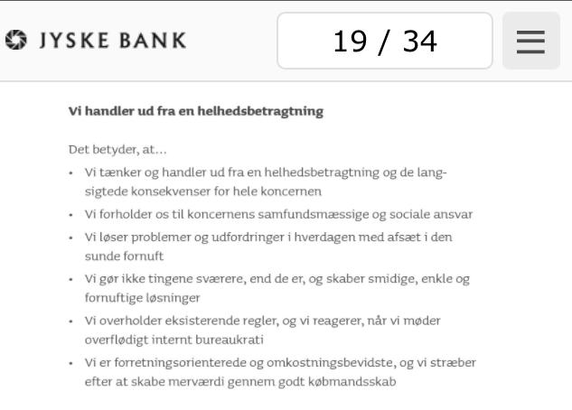 Jyske Bank gør ikke tingende sværere, end de er. overholder alle regler side 19