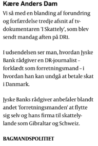 Det siger Poliktikken om Jyske Bank i Skattelysagen