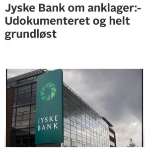 Jyske bank er uhæderlig, men det mener bankens bestyrelse ikke, derfor kommer sagen imod jyske bank for bedrageri svig snart for retten