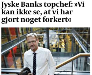 Anders Dam og Bestyrelsen har siden april / maj 2016. modtaget mange henvendelser om denne her sag. :-) Men Anders Dam og bestyrelsen med deres advokater slår fast .-) kunde skal betale 2.5 million i renter af et lån, der altså ikke findes. - Men for jyske bank er det nok at kunden tænkte på måske at ville lån. - og så skal du betale, sådan er jyske bank