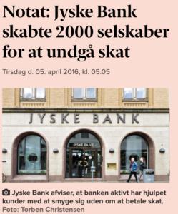 Jyske bank skabte 2000 selskaber for at spare skat