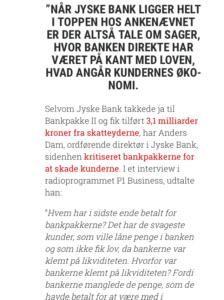 Jyske bank på kant med loven
