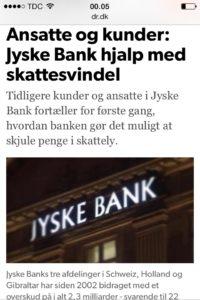 Jyske bank hjalp med skattesvindel