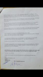 Side 2-2. / 28-01-2019 Brevet til jyskebanks Koncernledelse, om bestyrelsens medvirken til groft bedrageri mod kunder.