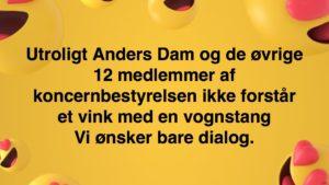Kære #AndersDam  Læs brevet 22-08-2018 til dig og Koncernledelsen i jyske bank Vi ønsker jo bare dialog  & At jyske bank stopper med at bedrage deres kunder