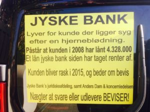 Jyske bank lyver over for bankens kunder