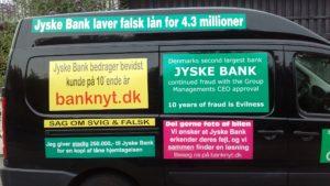 Gratis reklame er bedre end ingen reklame, vi gør dem mere synlige de bliver flotte og er helt gratis reklame for Jyske Bank