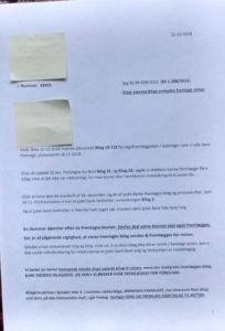 Bedes fremlagt disse bilag for at bevise bedrageri / svig side 1 af 2